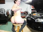 Car mechanic fucks in the booty his hot woman